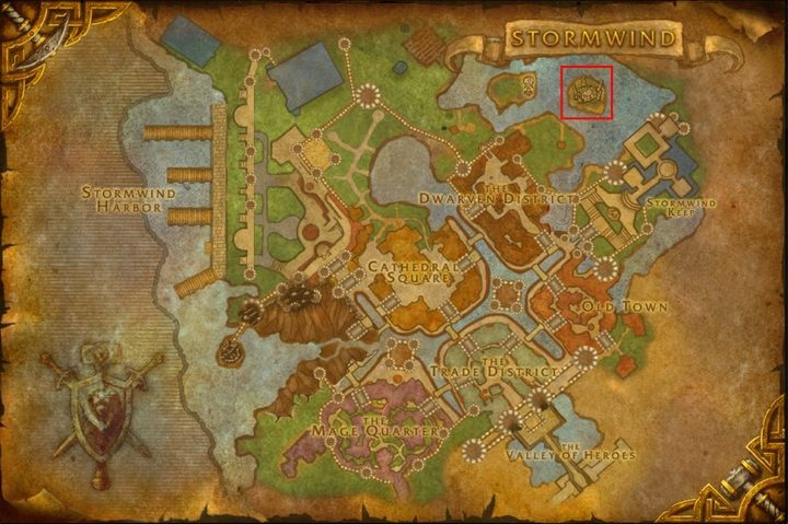 The Stormwind map shows the location of the portal to Uldum, through which you can get to Silithus. - How to get to Silithus and begin A Dying World quest in WOW Battle for Azeroth? - FAQ - World of Warcraft Battle for Azeroth Game Guide