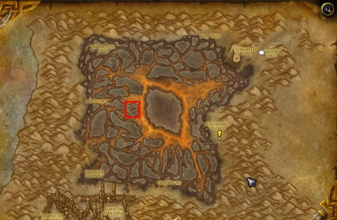 Sargerass sword, after the events in Legion expansion was driven into Silithus (location on the map above). - How to get to Silithus and begin A Dying World quest in WOW Battle for Azeroth? - FAQ - World of Warcraft Battle for Azeroth Game Guide