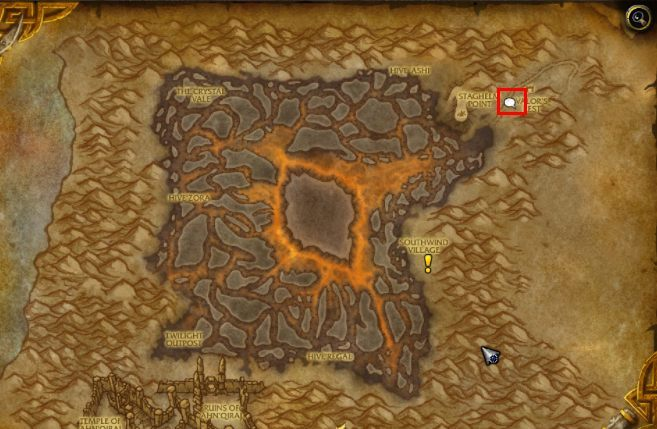 The location of the NPC Zidormi in Silithus is indicated by the above map. - How to get to Silithus and begin A Dying World quest in WOW Battle for Azeroth? - FAQ - World of Warcraft Battle for Azeroth Game Guide