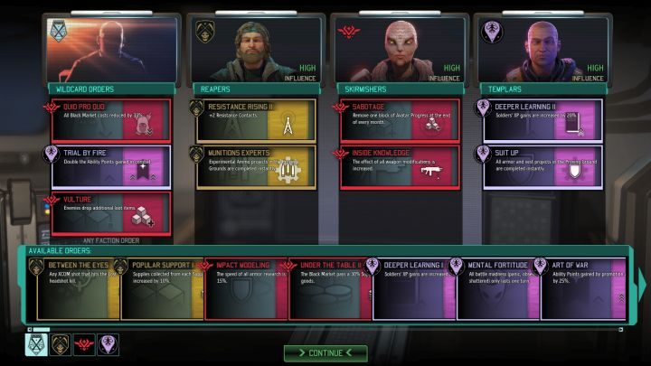 Influence with resistance factions can reach High level. - Increasing influence with resistance factions | Resistance factions - Resistance factions - XCOM 2 Game Guide