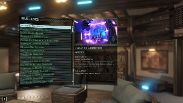 Completed missions can be checked from the menu located on the bottom of the screen. - Story missions | Tips & Tricks - Tips & Tricks - XCOM 2 Game Guide