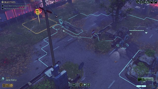 Moving in the blue area does not end the turn of a character. - Movement | Combat - Combat - XCOM 2 Game Guide