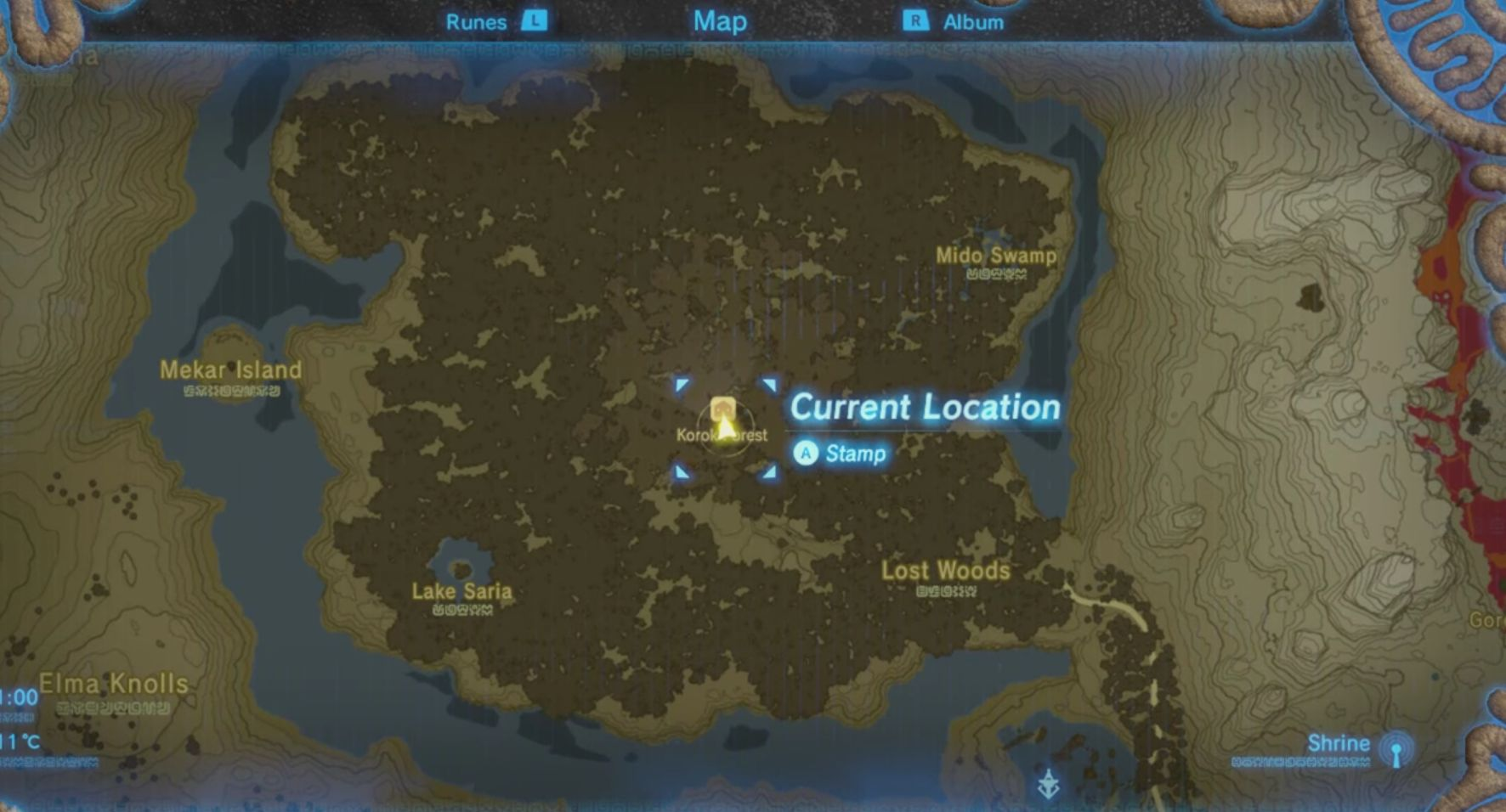 Thats the location of the Master Sword on the world map. - How to get Master Sword? | FAQ - FAQ - Frequently asked questions - The Legend of Zelda: Breath of the Wild Game Guide