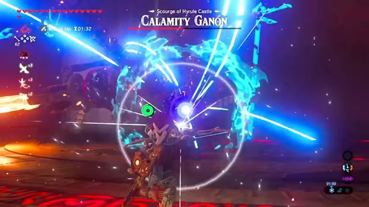 Fighting on a distance is a way to go. Watch out for the laser and other attacks! - Calamity Ganon | Bossfights - Bossfights - The Legend of Zelda: Breath of the Wild Game Guide