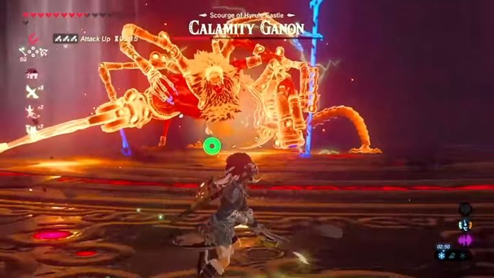 The enemy will surround himself with a shield - you can take it down by deflecting the laser. - Calamity Ganon | Bossfights - Bossfights - The Legend of Zelda: Breath of the Wild Game Guide