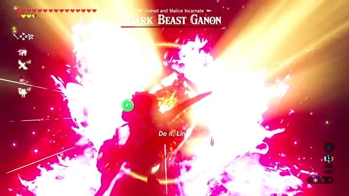 At the end of the fight, use the tornado and fire into the enemys eye. - Dark Beast Ganon | Bossfights - Bossfights - The Legend of Zelda: Breath of the Wild Game Guide