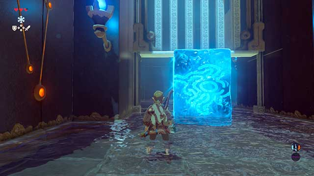 Open the gate by creating a block of ice - The Isolated Plateau | Main quests - Main quests - The Legend of Zelda: Breath of the Wild Game Guide