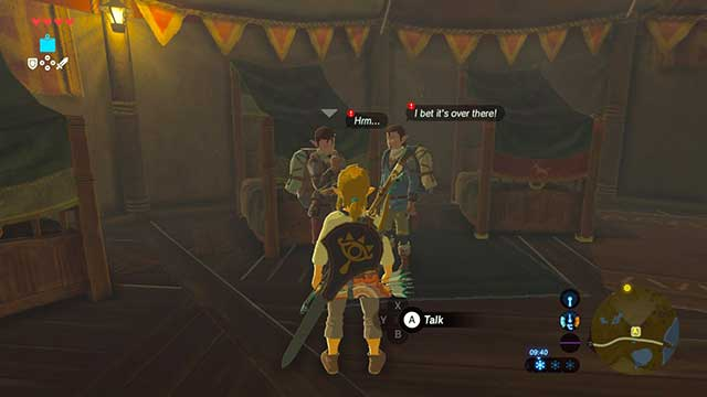Talk to the treasure hunters - Dueling Peaks Tower | Side quests - Side quests - The Legend of Zelda: Breath of the Wild Game Guide