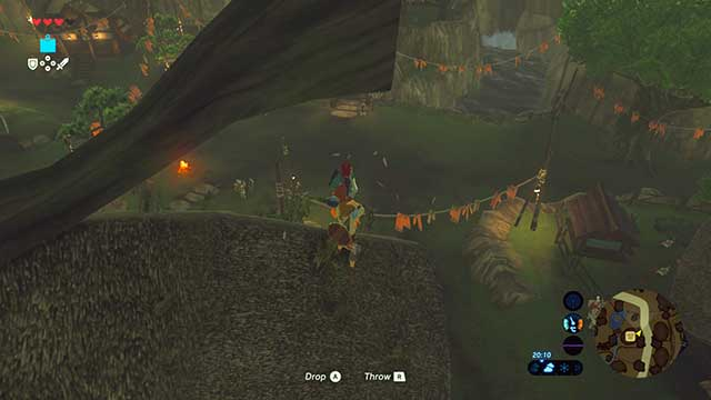 One of the chicks is hiding on the roof - Dueling Peaks Tower | Side quests - Side quests - The Legend of Zelda: Breath of the Wild Game Guide